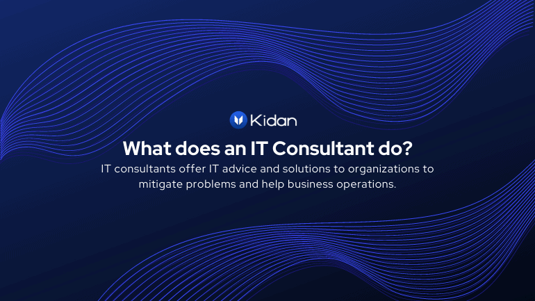 What does an IT consultant do?