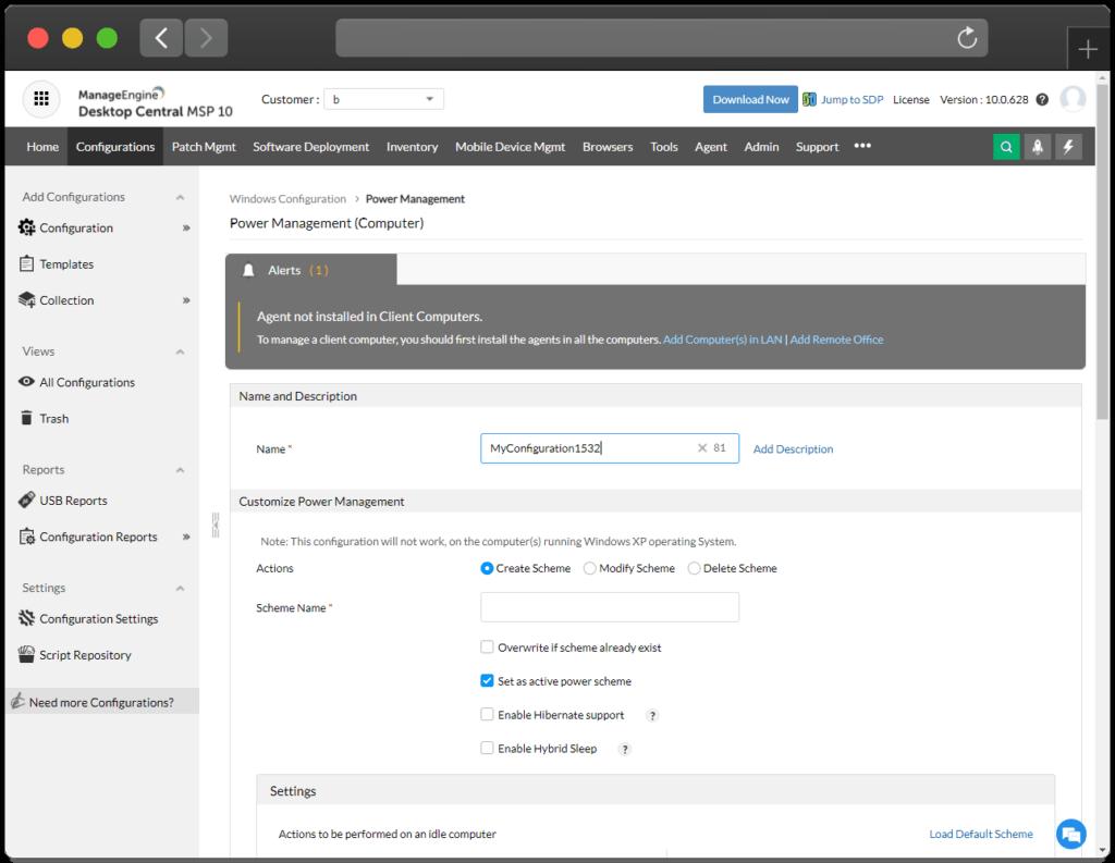 Desktop Central MSP